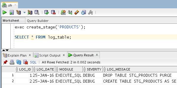 SQL Developer 1