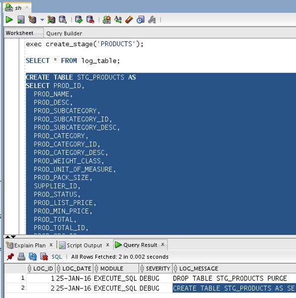 SQL Developer 2