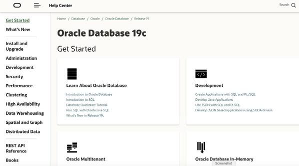 Oracle Documentation 19c